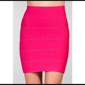 BCBG Pink Power Skirt. Stretch. Amazing Fit. Sz. L